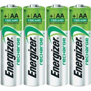 Energizer 4 accus AA (R6) NiMH 1,2V 1300 mAh Recharge