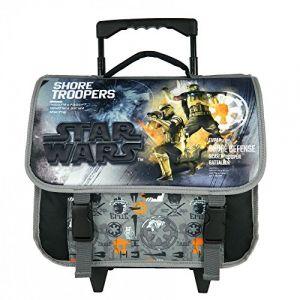 Disney Cartable à roulettes 38CM NOIR-STAR WARS
