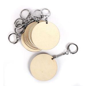 Graine Créative Porte-clefs en bois rond Ø 55 mm - 10 pcs