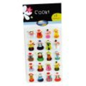 Maildor Cooky - Stickers Noël x 8 en 3D
