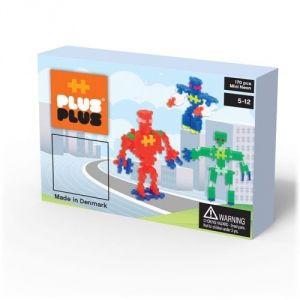Plus Plus Box Mini Neon Robots 170 pièces