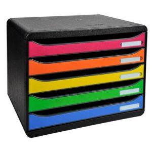Exacompta 308798D - BIG-BOX PLUS à l'italienne, coloris noir/arlequin