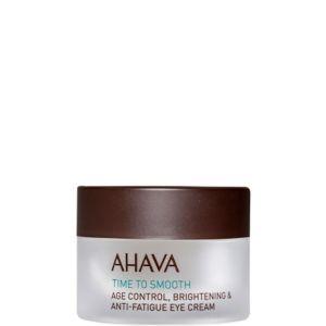 Ahava Time to Smooth Crème Contour des Yeux Anti-Âge Anti-Fatigue et Éclat 15 ml