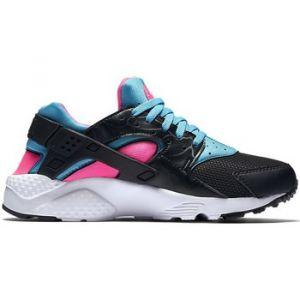 Nike Huarache Run (GS), Chaussures de Running Fille, Noir (Black (Noir/Blanc-Rose Explosion-GMM BL)), 38.5 EU