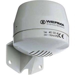 Werma Signaltechnik Klaxon de signalisation tonalité continue 482.052.55 24 V/DC 92 dB 1 pc(s)