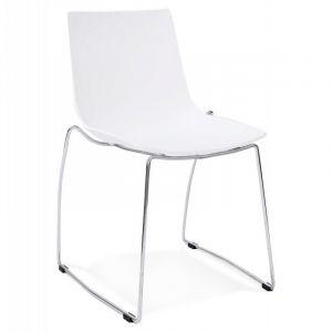 Kokoon Design Chaise design et empilable TIKADA (BLANC)