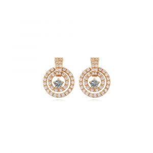 Image de Blue Pearls Destockage Massif - Boucles Doreilles Cercle Plaqué Or Jaune Et Cubic Zirconia Blanc Pdc C350