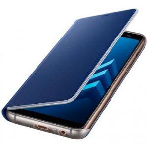 Samsung Etui Flip neon (bleu) - Galaxy A8