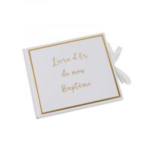 Livre d'or Mon Baptême embossé or 64 pages 22 x 19 cm Taille Unique