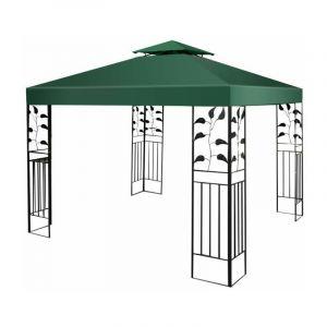 Toile de Rechange en Polyester Impérméable de Jardin pour Pavillon Tonnelle 3 x 3 M Vert Costway