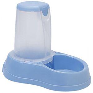 Zolux Distributeur de croquettes antidérapant bleu pastel - 1,5 kg