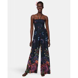 Desigual Dress Swimwear IYE Woman Blue, Combinaison Femme, Bleu Marine (5000), Taille L