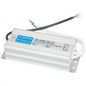 Silamp Transformateur 220V 12V IP67 80W DC 6.7A