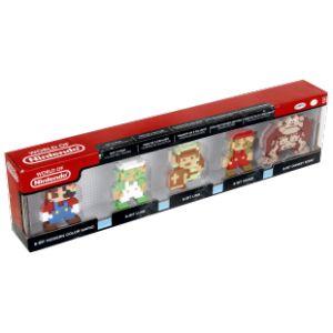 Abysse Corp Pack de 5 minis figurinesde collection : Mario Link Luigi DK et Mario