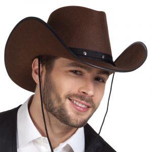 Chapeau Cowboy Marron Adulte,
