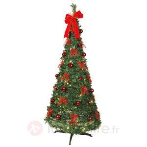 Best Season Arbre de Noël LED décoré rouge (1m80)