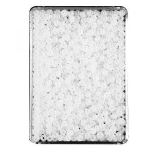 Panduro Perles de Rocailles - 2,5 a 2,8 mm de diametre - Trou 0,7 mm - Blanc opaque