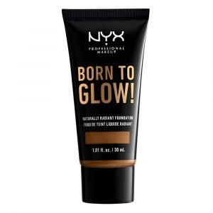 NYX Cosmetics Born To Glow - Naturally Radiant Fondation - Warm Mahogany