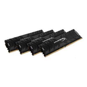 Kingston HX432C16PB3K4/32 - Barrette mémoire HyperX Predator Noir 32 Go (4x 8 Go) DDR4 3200 MHz CL16