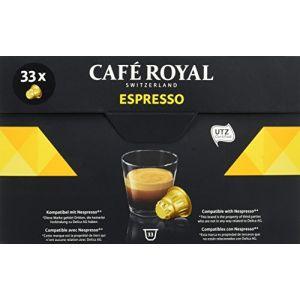 Café Royal Espresso - 33 Capsules Compatibles avec le Système Nespresso