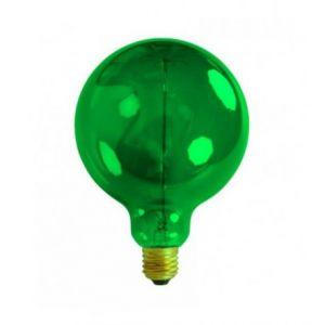 Ampoule décorative rétro Edison globe vert (D.12,5cm) filament incandescent 40W (E27)