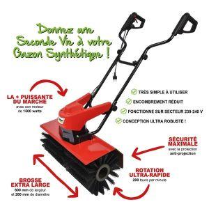 Balai brosse électrique pour pelouse artificielle GAZONS SYNT TIQUES NET