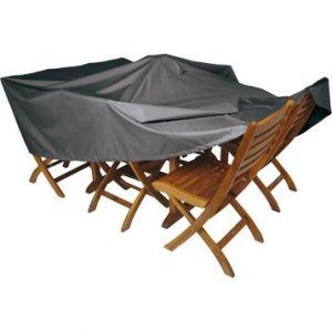 Naterial Housse de protection pour table L.200 x l.130 x H.60 cm