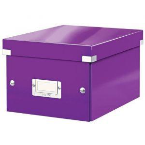 Leitz 6043-00-62 - Boîte de rangement Click & Store, format A5, en PP, coloris violet