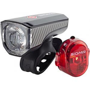 Sigma Sport Aura 40 - Kit éclairage vélo - USB/Nugget II rouge/noir Sets de lampes