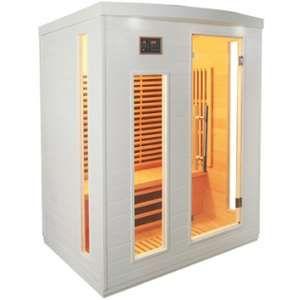 Sauna infrarouge blanc panneaux carbone 2250W 3 places - SNÖ