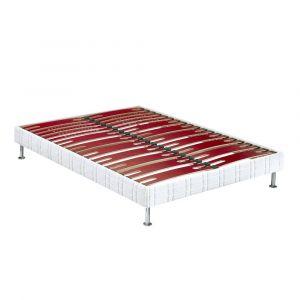 Bultex Sommier tapissier Confort Morphologique Bi-Lattes 200x200 avec 2 sommiers