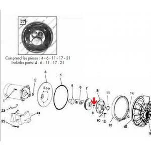 Procopi 571046 - Vis en laiton de turbine pompe triphasé Sta-Rite P2R