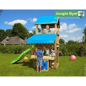 Trigano Jungle Castle - Aire de jeux en bois avec toboggan et auvent