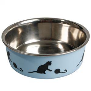 Karlie Bella Gamelle pour chat 10 cm de diamètre Bleu