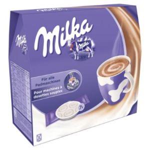 Kraft 7 dosettes Milka pour machines à dosettes souples