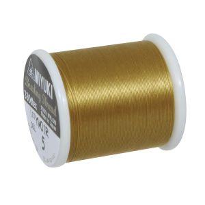Rayher Fil à enfiler doré - 50 m - 0,27 mm