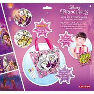 243ba36494 Lansay Sac à personnaliser Sequins magiques Disney Princesses