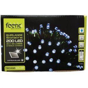 Guirlande lumineuse Solaire 20 m Bleu 200 LED