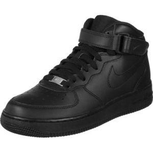 Nike Air Force 1 Mid (Gs), Chaussures de basketball mixte enfant, Noir, 37.5 EU