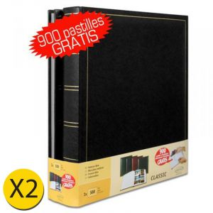 Brepols Lot de 2 albums traditionnels jumbo 100 pages pour 500 photos 10x15 - Noir
