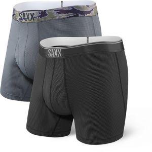 Saxx Underwear Vêtements intérieurs Quest Fly 2 Pack - Black / Dark Charcoal - Taille M