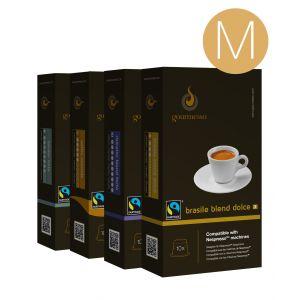 Gourmesso Coffret 200 capsules Expresso M compatibles machines Nespresso