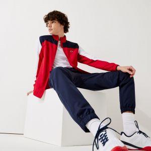 Lacoste Ensemble de survêtement Tennis Sport color-block Taille 3XL Rouge/blanc/bleu Marine/blanc/noir