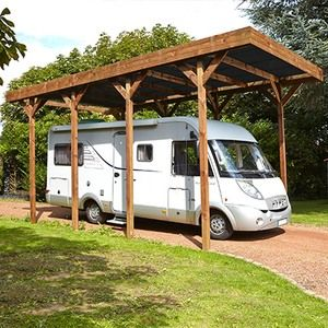 Madeira Carport autoportant pour camping car 4x8m