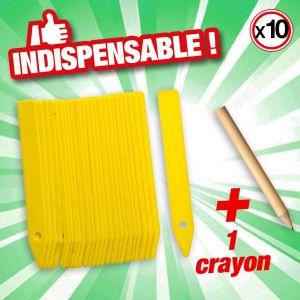 Nature Etiquettes PVC + 1 crayon