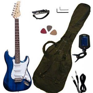 Vision Instruments Pack guitare électrique, accordeur électronique, housse