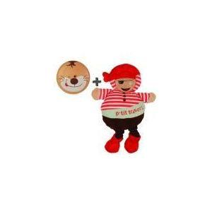 Doudou et Compagnie Peluche Bouille de doudou : Pirate ou Marin (modèle aléatoire)
