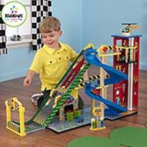KidKraft 63267 - Garage avec rampe voiture de course