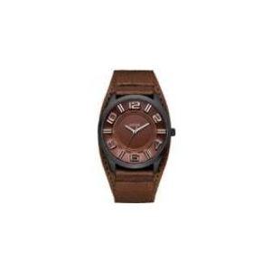 Guess W14542G2 - Montre pour homme avec bracelet en cuir