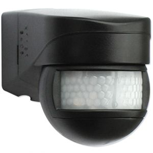 BEG Mini détecteur de mouvement extérieur LUXOMAT 180° Noir pour commande d'éclairage 91072